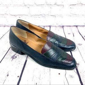 Selby ActiveFlex Blue Leather Loafers Size 7.5